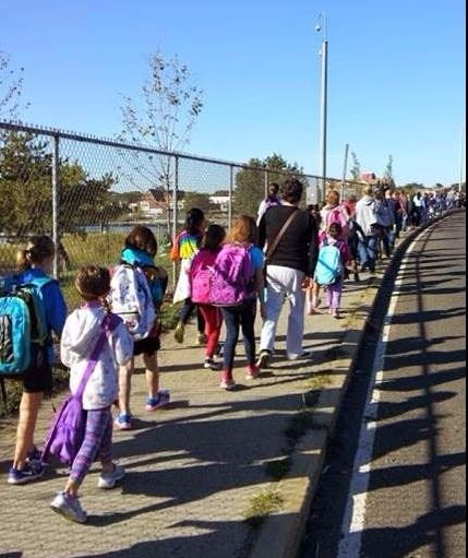 walk to school day parade