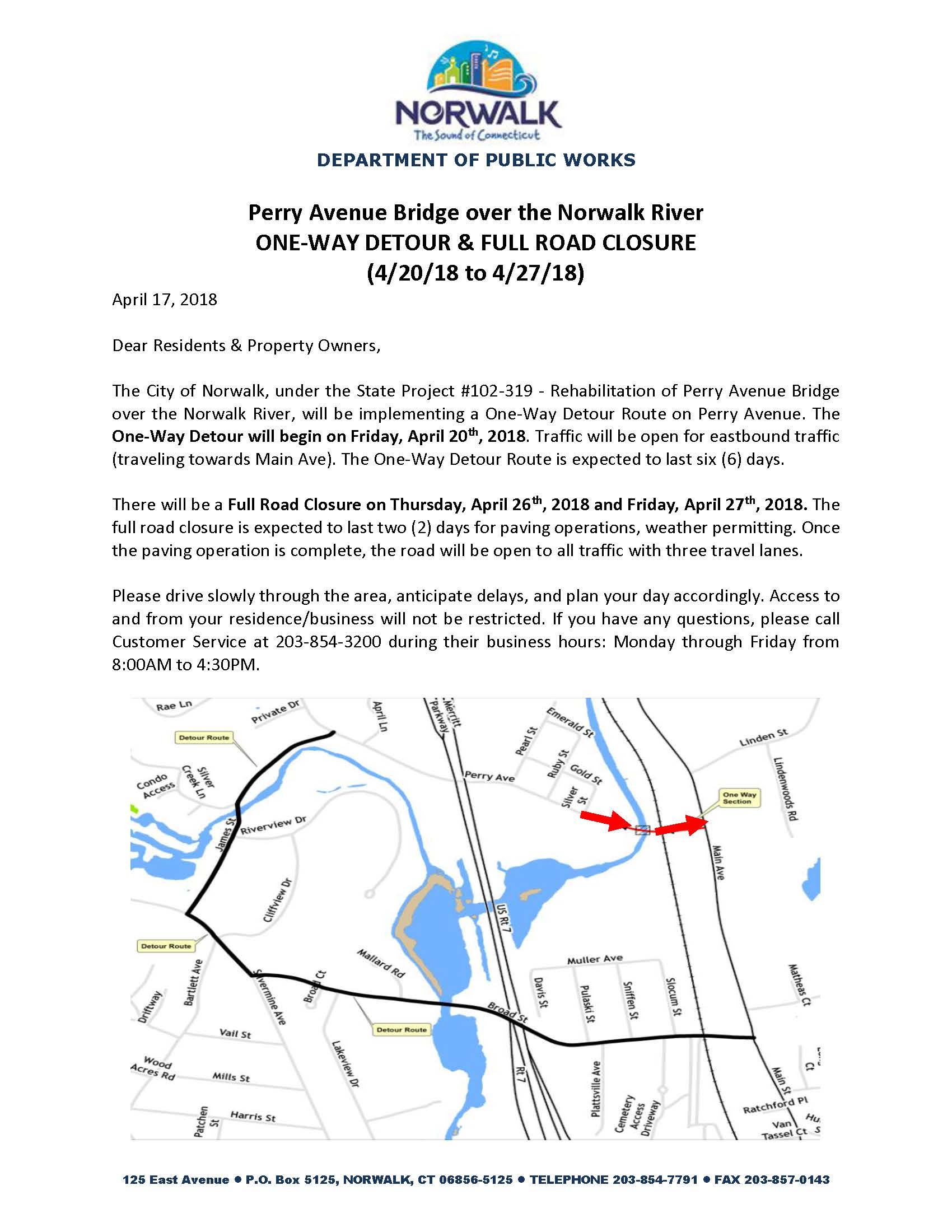 Perry Ave Detour 4-20-18
