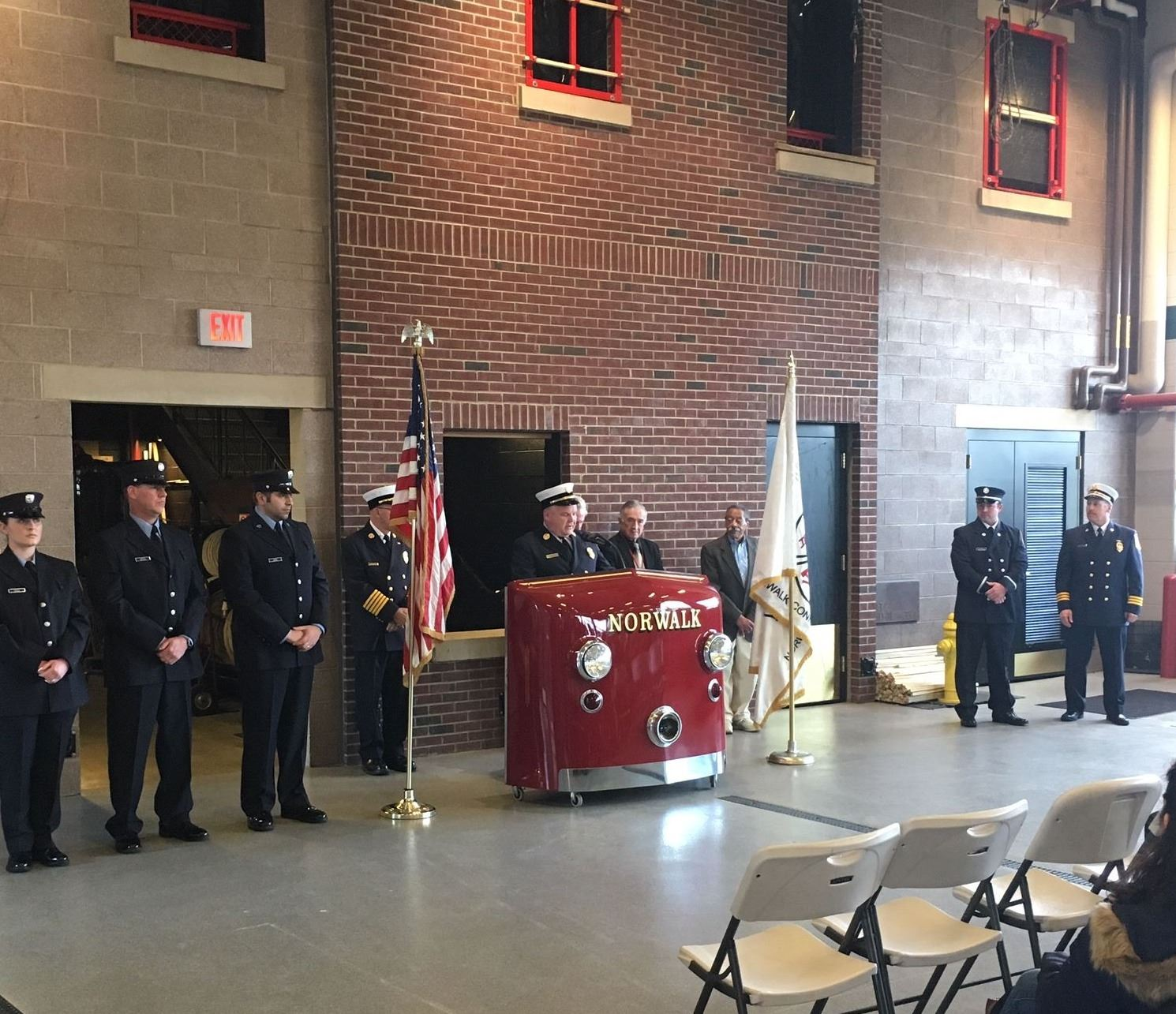 Norwalk Fire Department held a promotional and swearing in ceremony