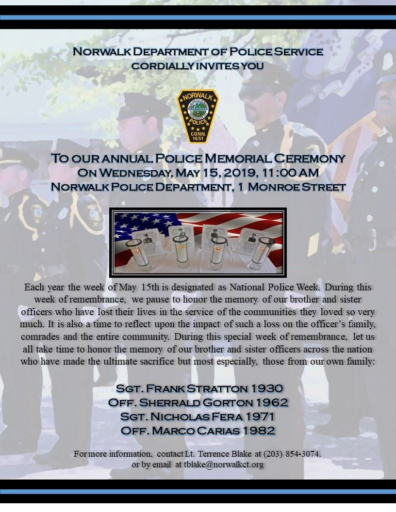 Norwalk Police Memorial 2019