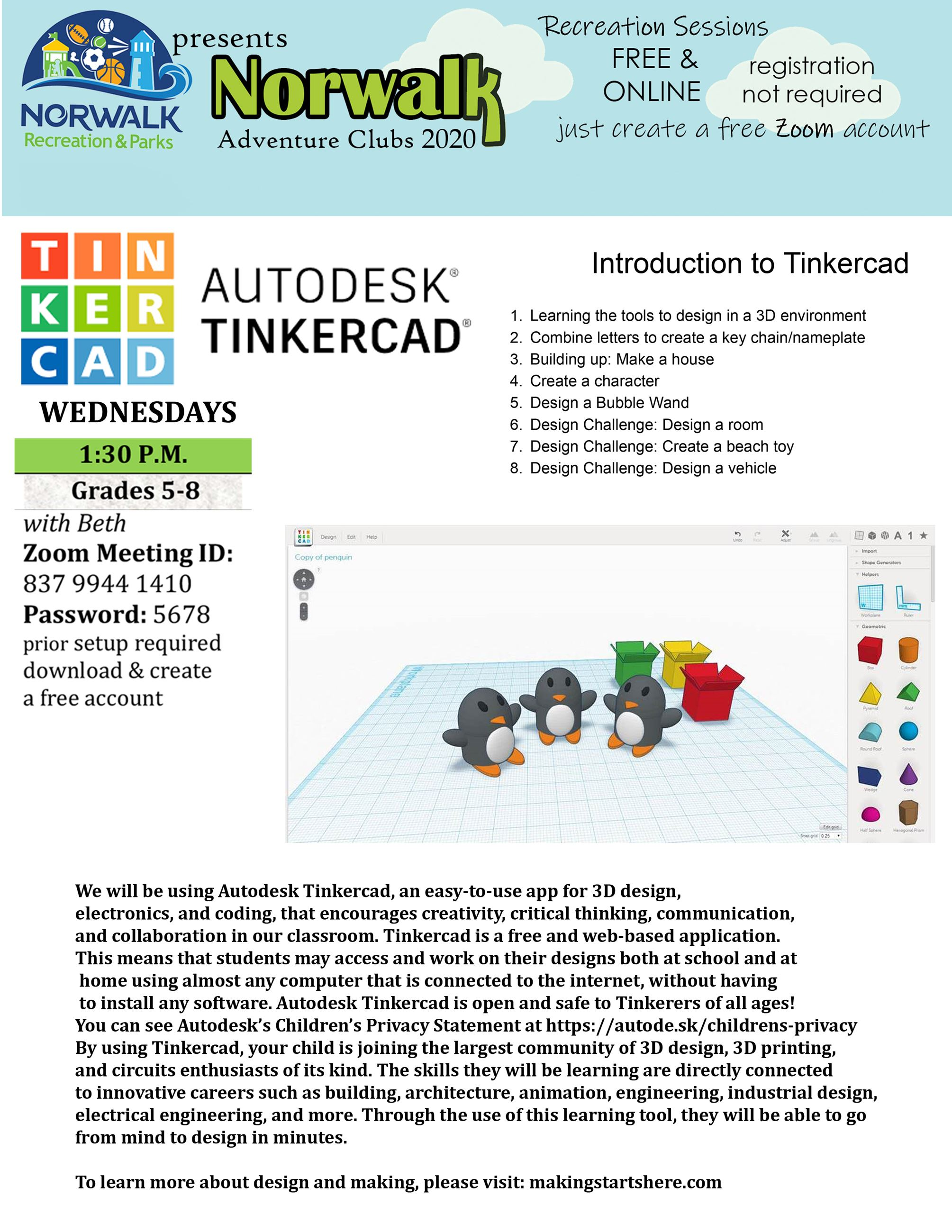 Introduction to Tinkercad - FLYER