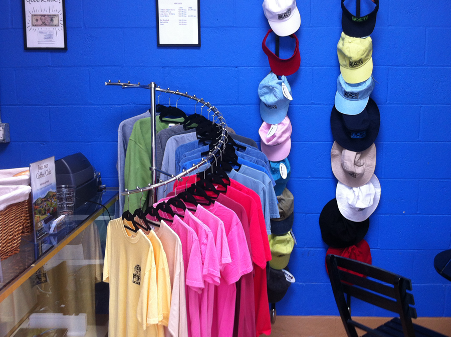 shirts and hats at Calfe' Mu