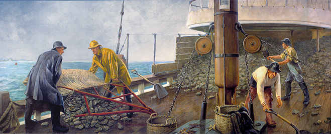 Dredging for Oysters by Alexander Rummler