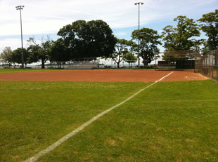 baseball field at calf pasture beach