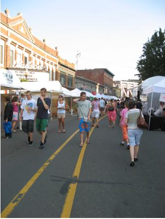 People attending the SoNo Art Festival
