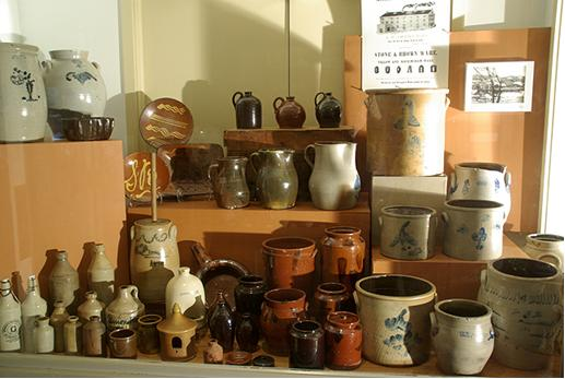 The Norwalk Museum's pottery display